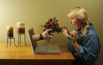 Flowers via Laptop